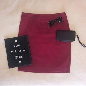 LOFT burgundy pencil skirt